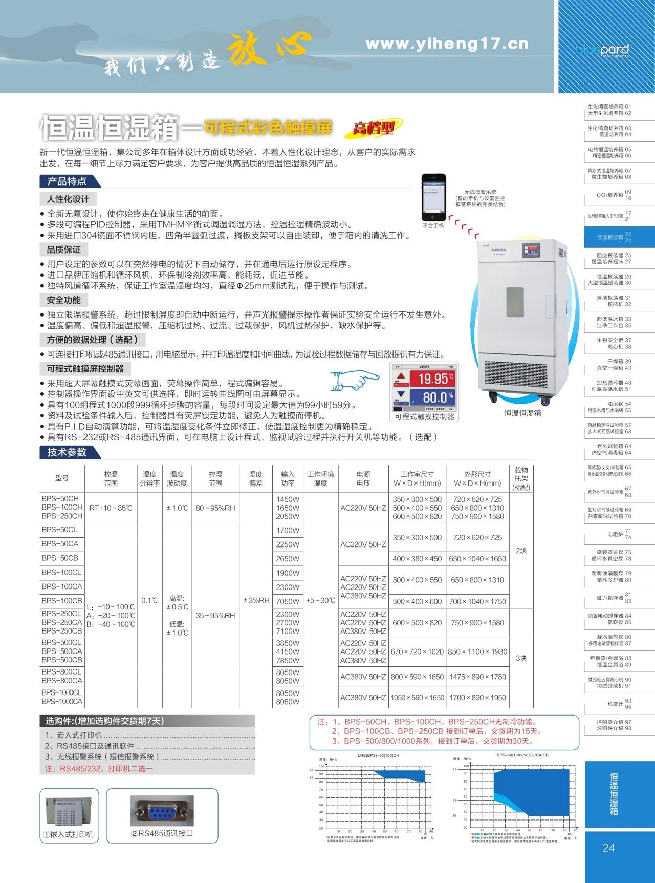 上海一恒高档型恒温恒湿箱